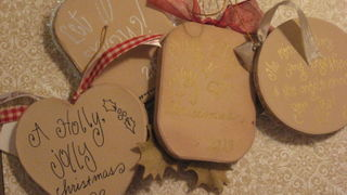messages on the back-side of the ornaments.