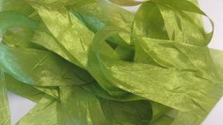 spring green silk crush ribbon, new on my Etsy.