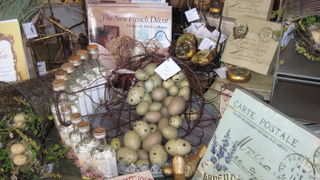 A softly, french, spring display.