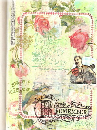 Sample of what I will be teaching at Paper Cowgirl 2. Altered Art Journal Page.