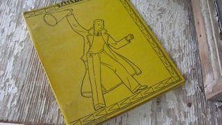 Boola Boola! A 1932 School Binder. In shcool bus yellow, no less.