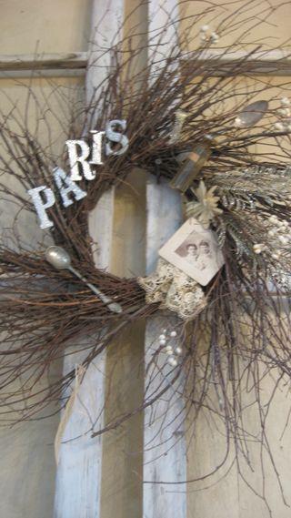 Delightful Paris wreath.
