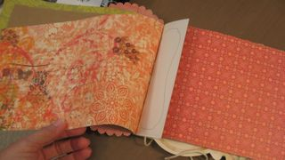 We even worked in some pretty scrap paper for pages.