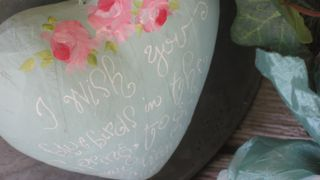 painted paper mache' heart