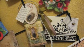 Tobacco Tin by Maija. Little nest painted by me!