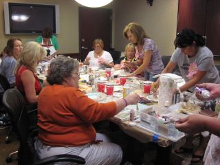 Art from the Heart class is underway.