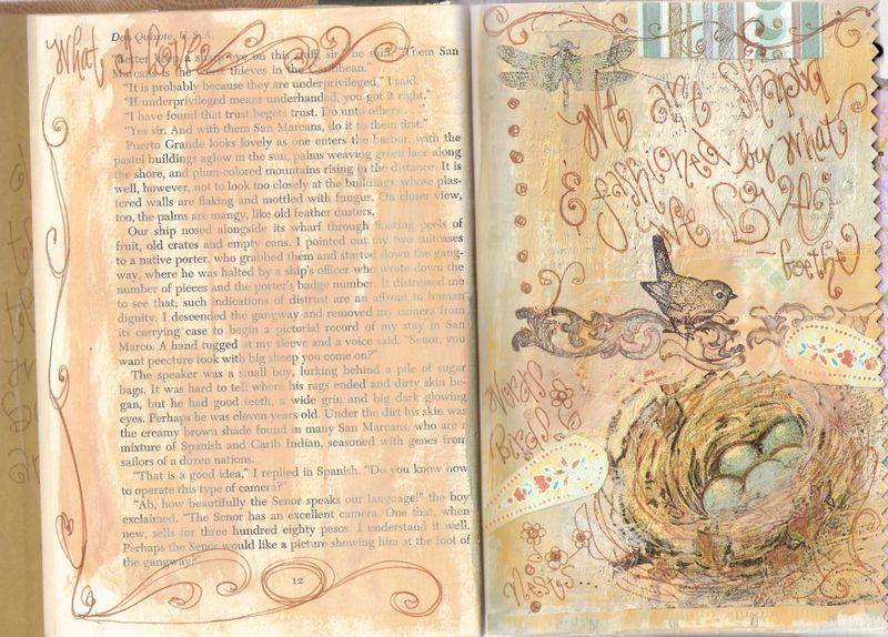 Napkin transfer journal page