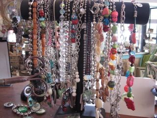 Lots of pretty jewelry, many pieces are hand-made.