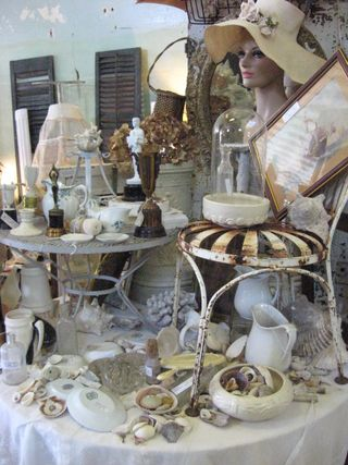 Garden Antiques lovely booth. One day I hope to meet Teresa.
