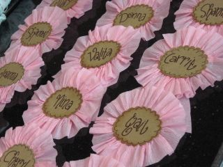 The name game...badges for Cowgirls!