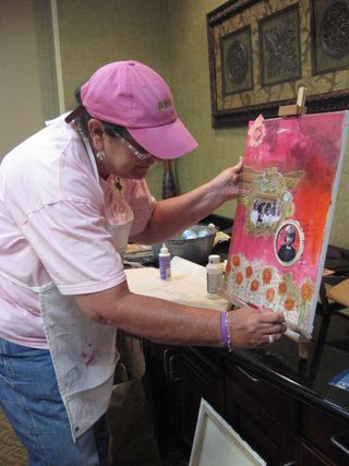Jan Thomason teacher, Art From the Heart Canvas Class