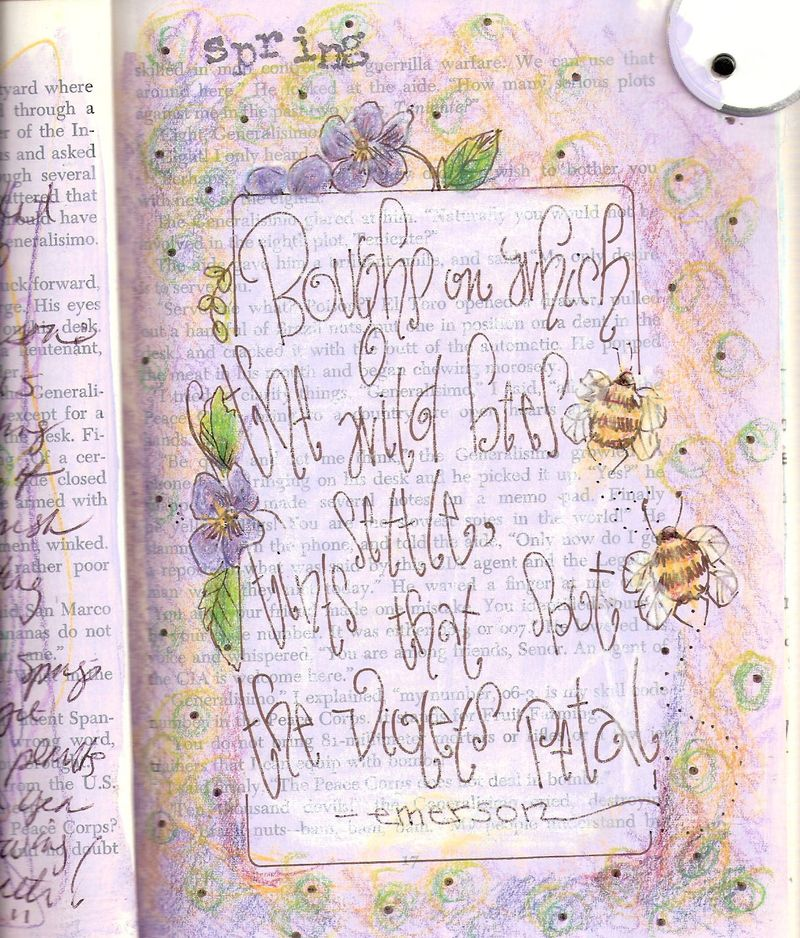 Spring journal page