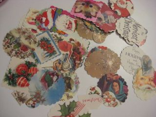 And green thoughts too! With repurposed vintage Christmas cards!