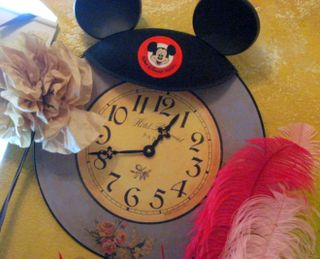 My clock likes to wear my Mickey Ears.