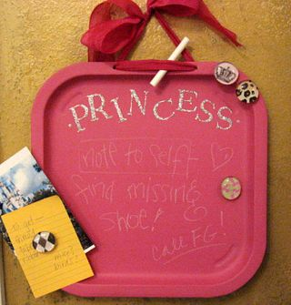 Princess Chalk Memo Board by Yapping Cat Studio.
