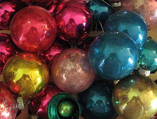 Vintage shabby Christmas ornaments
