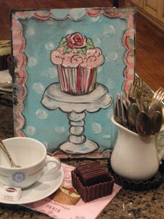 Cup Cake Whimsy class to be taught by Sandra at Fall Paper Cowgirl Art Retreat.