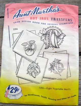 Martha, Martha, Martha. I love your vintage transfer patterns. This has never been opened.