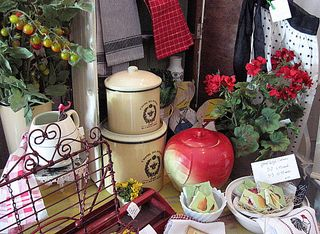 Cottage Kitchen goods at my booth at work.