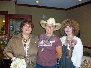 me, Tina and Mindy - June Paper Cowgirl 2009