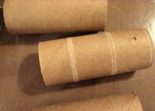 Just take a few of these, empty toilet paper rolls!