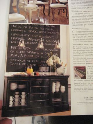 And I would love to have this big ol chalkboard in my kitchen! Hello Grocery List! Hubby could not miss it then.