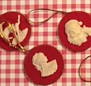 Vintage Christmas Cameo's for sale on my Etsy.