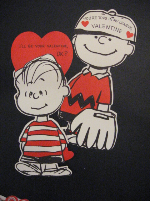 YAPPING CAT STUDIO Vintage Valentines touch the Heart – Charlie Brown Valentine Cards