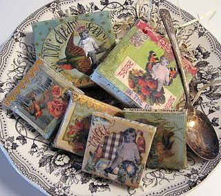 Bowl full of art! Canvases by Yapping Cat Designs.