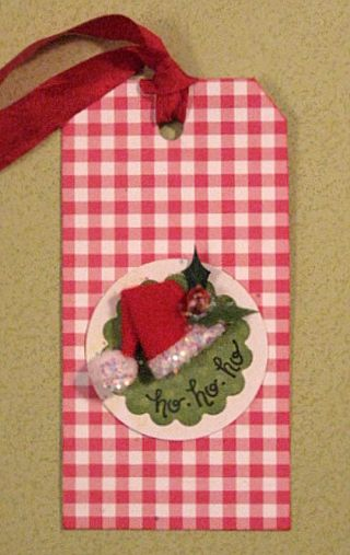 That makes this cute little Santa Hat Tag!