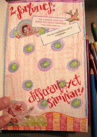 work in progress journal page