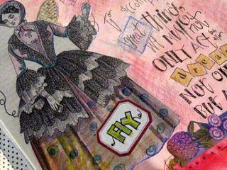 art journal in progress via Hopes Nostalgic Musings class