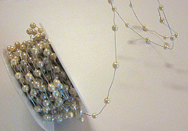 New Ribbon in my Etsy. Creamy, cool pearls on silver ribbon! You gotta love this one!