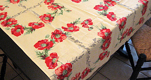 Poppie Vintage Tablecloth - SOLD - Thank you!
