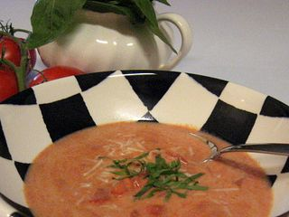 Are'nt we happy for cooler weather? Lunch today was Tomato Basil Soup!