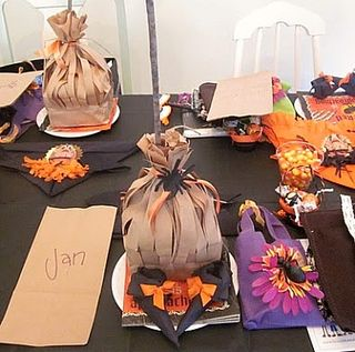 Witches Shoes at each place setting
