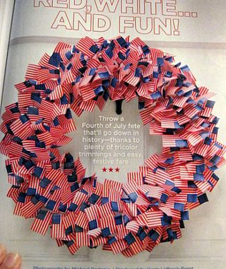 Flag Wreath, July Issue Good Housekeeping 2010