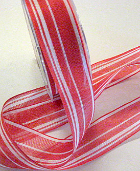 New ribbon in my Etsy. Red and Whtie striped Jute.
