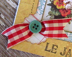 Detail of a hand-made card by Yapping Cat Designs