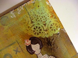 doilies make great stencils